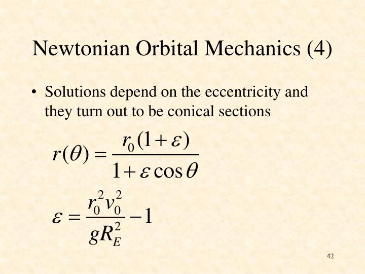 Newtonian Orbital Mechanics (4)