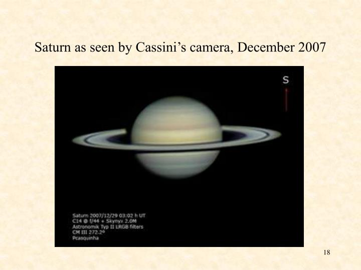 Saturn as seen by Cassini's camera, December 2007