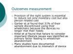 outcomes measurement