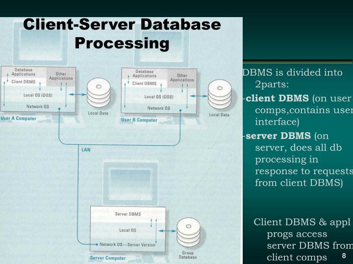 Client-Server Database Processing