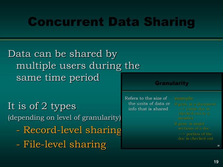 Concurrent Data Sharing