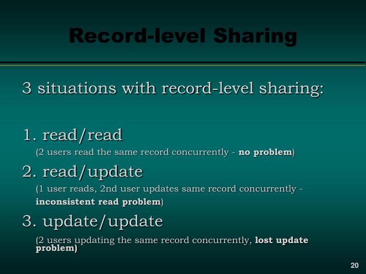 Record-level Sharing