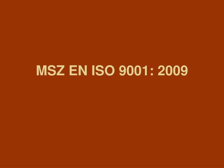 msz en iso 9001 2009