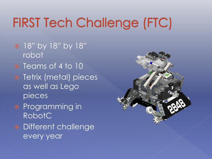 FIRST Tech Challenge (FTC)
