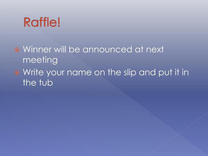 Raffle!