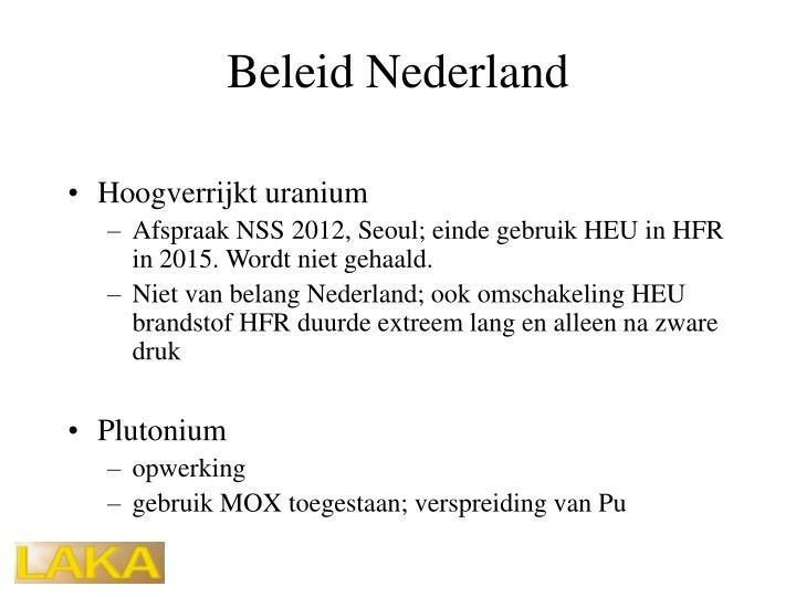 Beleid Nederland