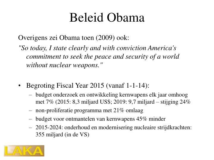 Beleid Obama