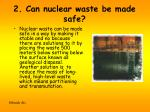 2 can nuclear waste be made safe