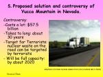 5 proposed solution and controversy of yucca mountain in nevada2