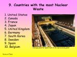 9 countries with the most nuclear waste