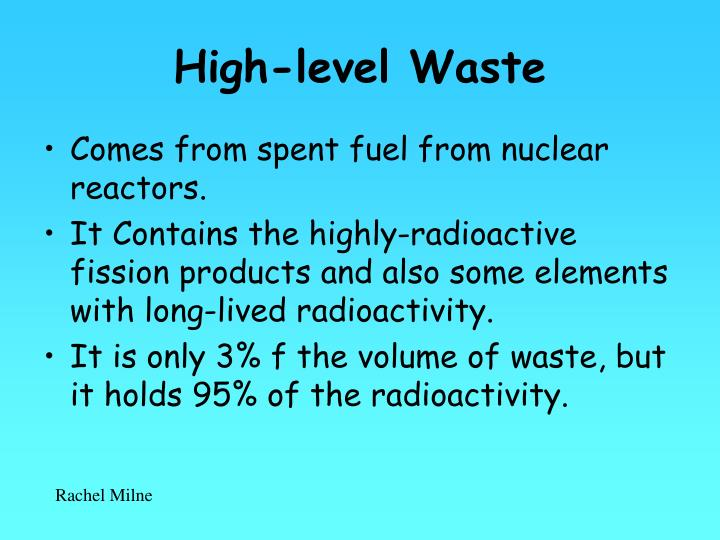 High-level Waste