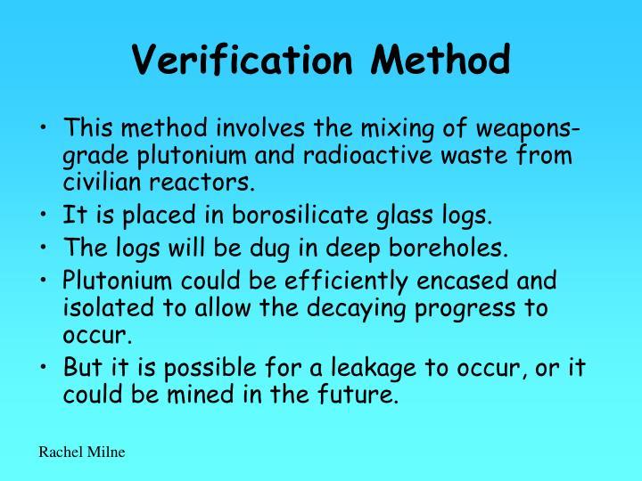 Verification Method