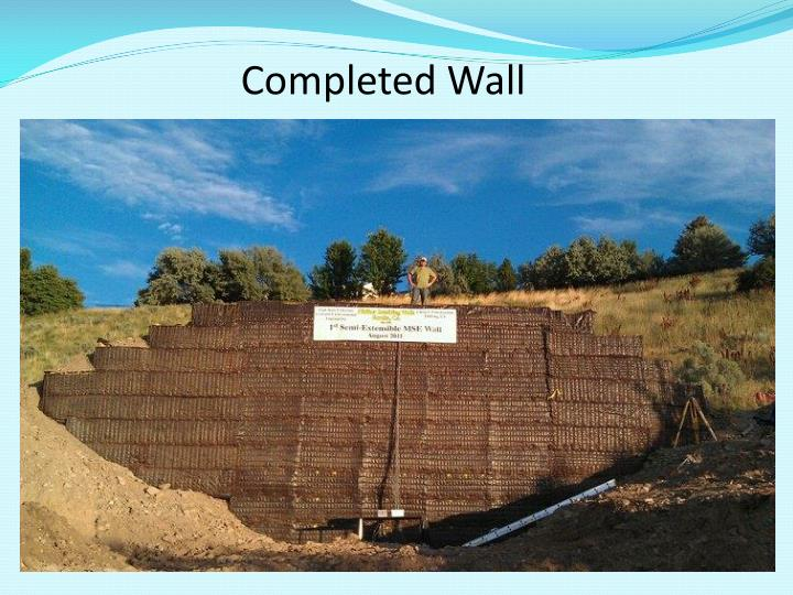 Completed Wall