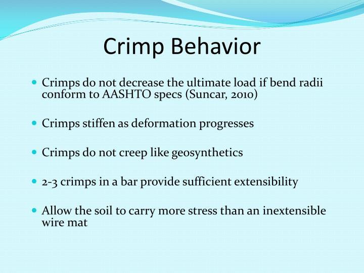 Crimp Behavior