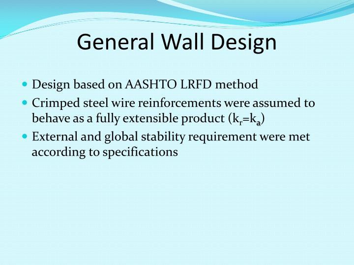 General Wall Design