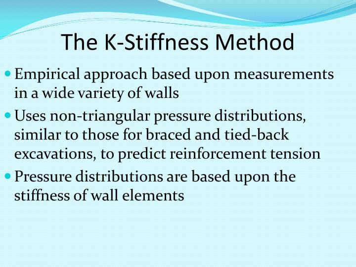 The K-Stiffness Method