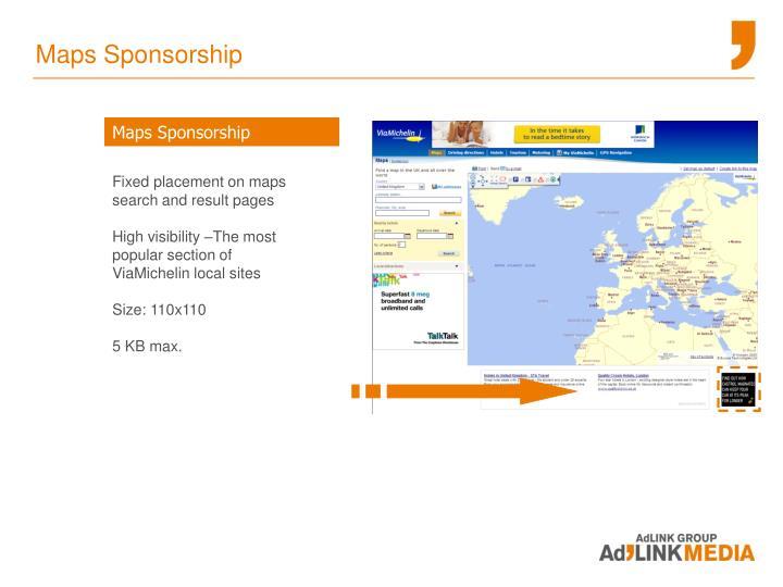 Maps Sponsorship