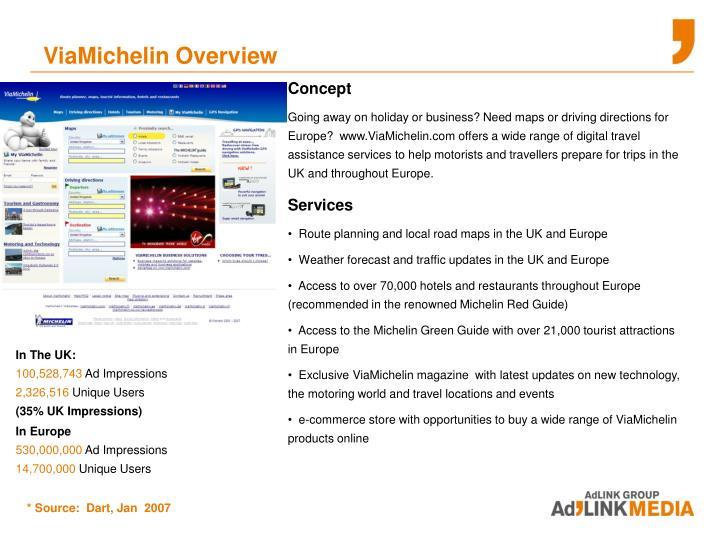 ViaMichelin Overview