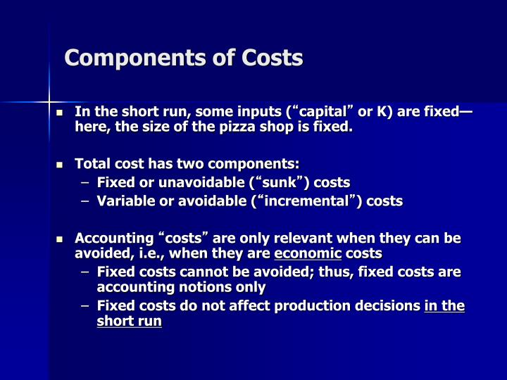 Components of Costs