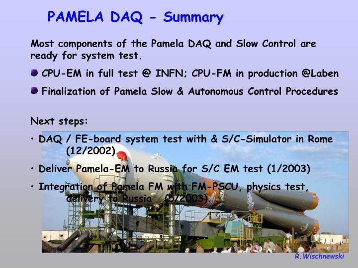 PAMELA DAQ - Summary