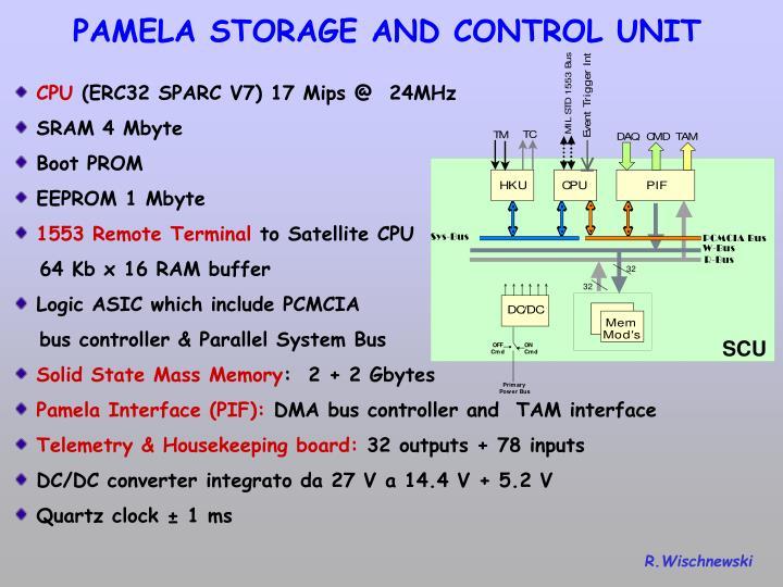 PAMELA STORAGE AND CONTROL UNIT