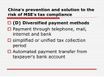china s prevention and solution to the risk of mse s tax compliance10
