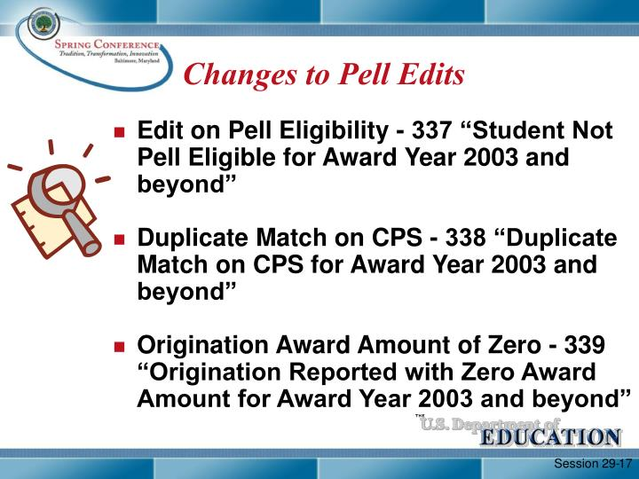 Changes to Pell Edits