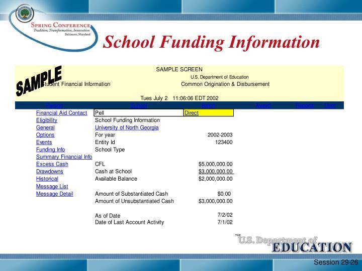 School Funding Information