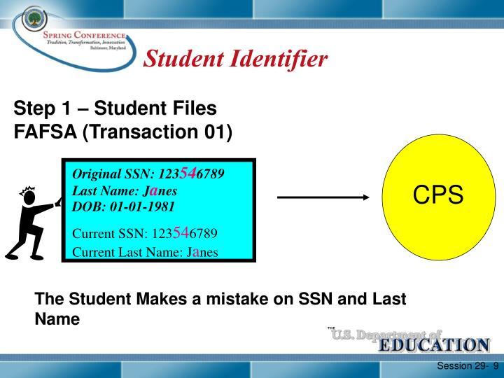 Student Identifier