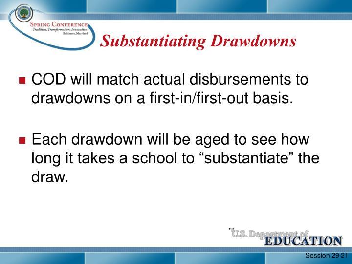 Substantiating Drawdowns
