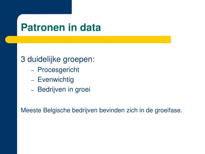 Patronen in data