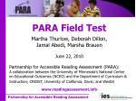 para field test