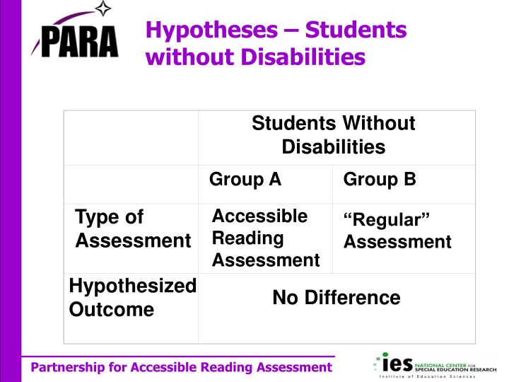 Students Without Disabilities