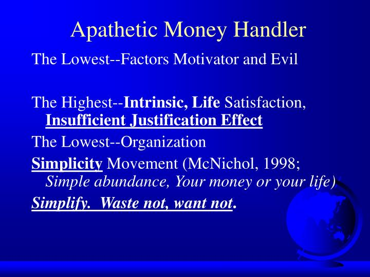 Apathetic Money Handler