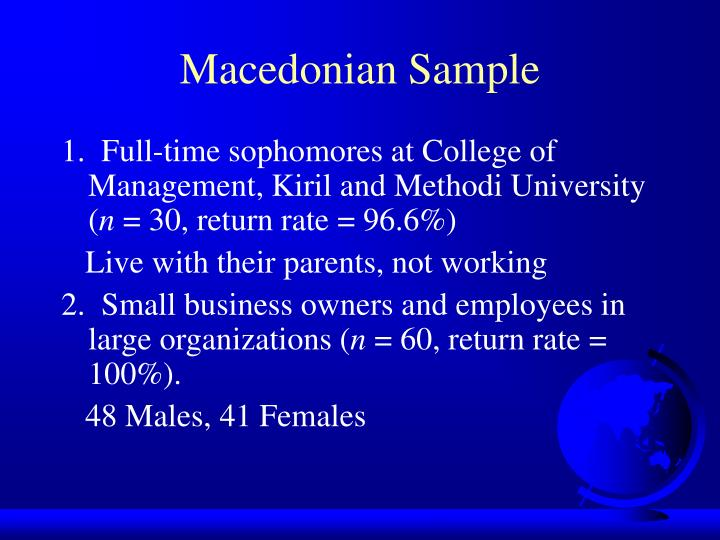 Macedonian Sample