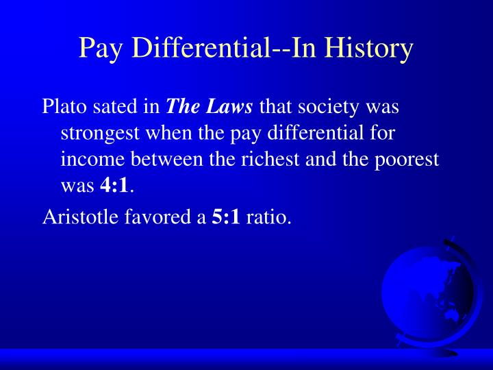 Pay Differential--In History