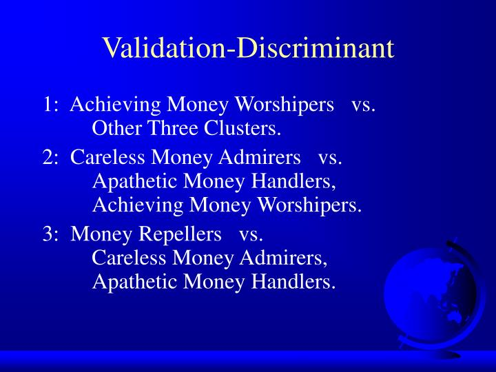 Validation-Discriminant