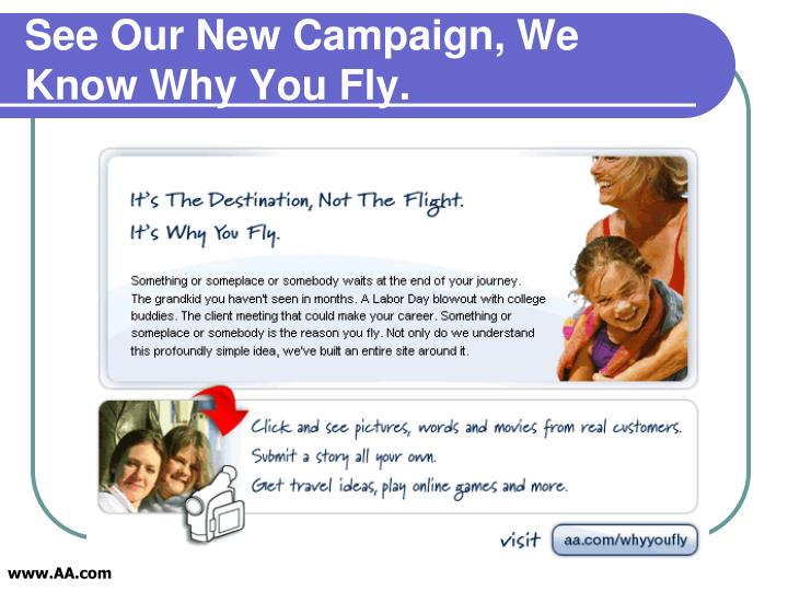 See Our New Campaign, We Know Why You Fly.
