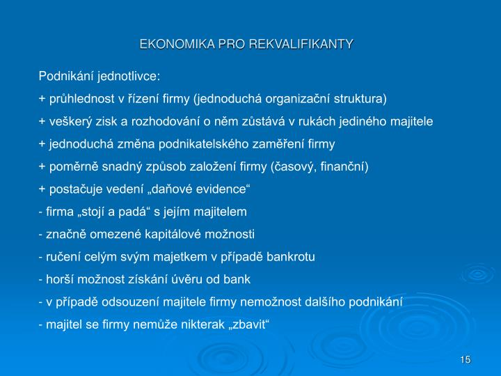 Podnikání jednotlivce: