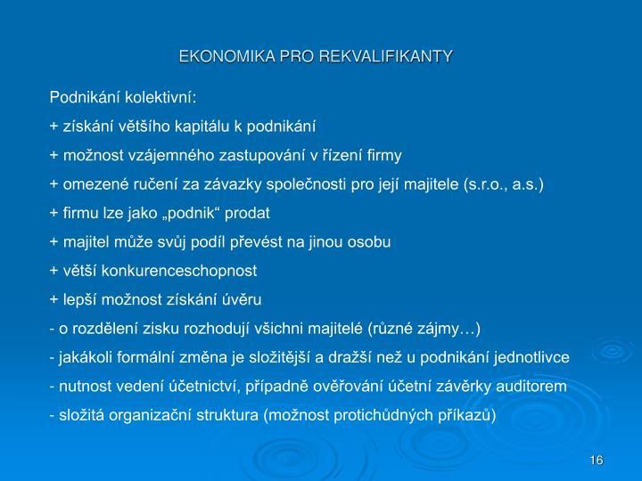 Podnikání kolektivní: