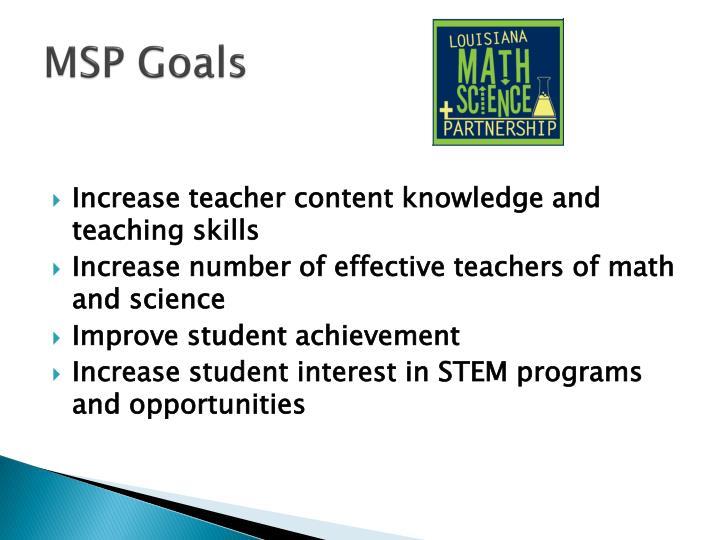 MSP Goals