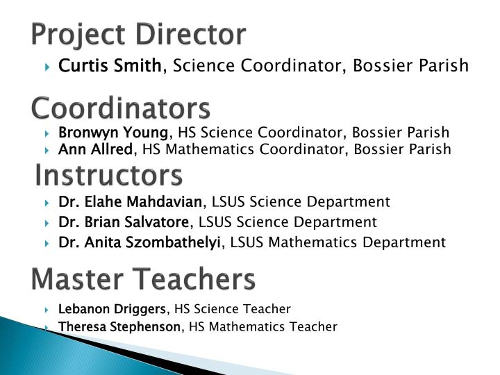 Project Director