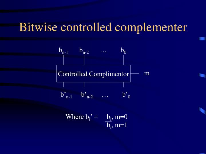 Bitwise controlled complementer