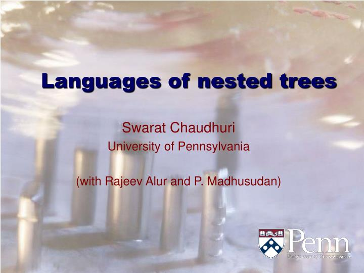 Languages of nested trees