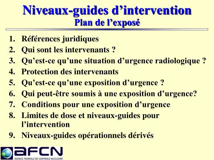 Niveaux-guides d'intervention