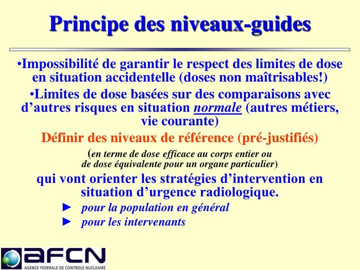 Principe des niveaux-guides