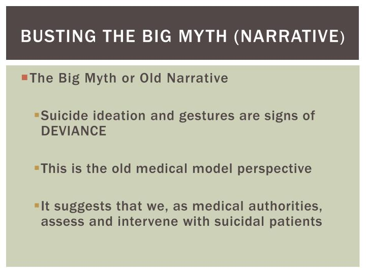 Busting the Big Myth (Narrative