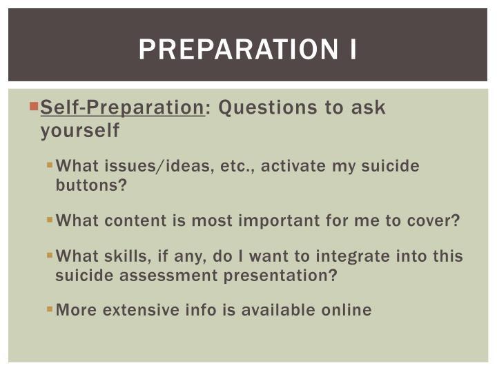 Preparation I