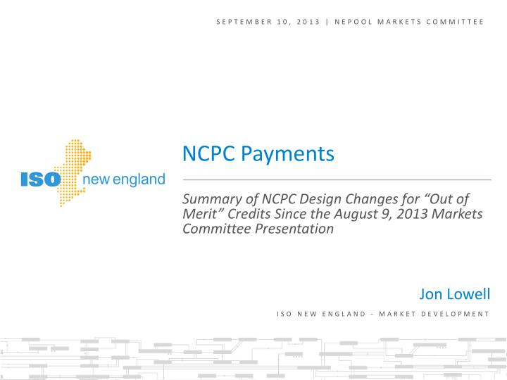 September 10, 2013 | NEPOOL markets committee
