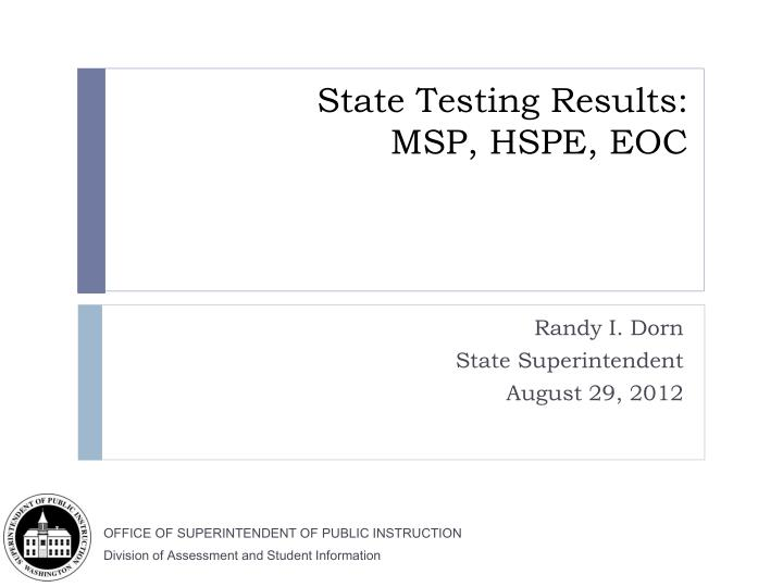 State Testing Results: